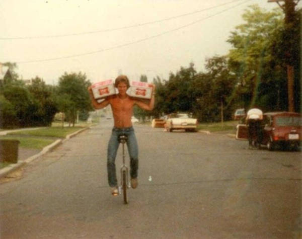 20. '48 Beers And A Unicycle. My Dad In The Early 80s'
