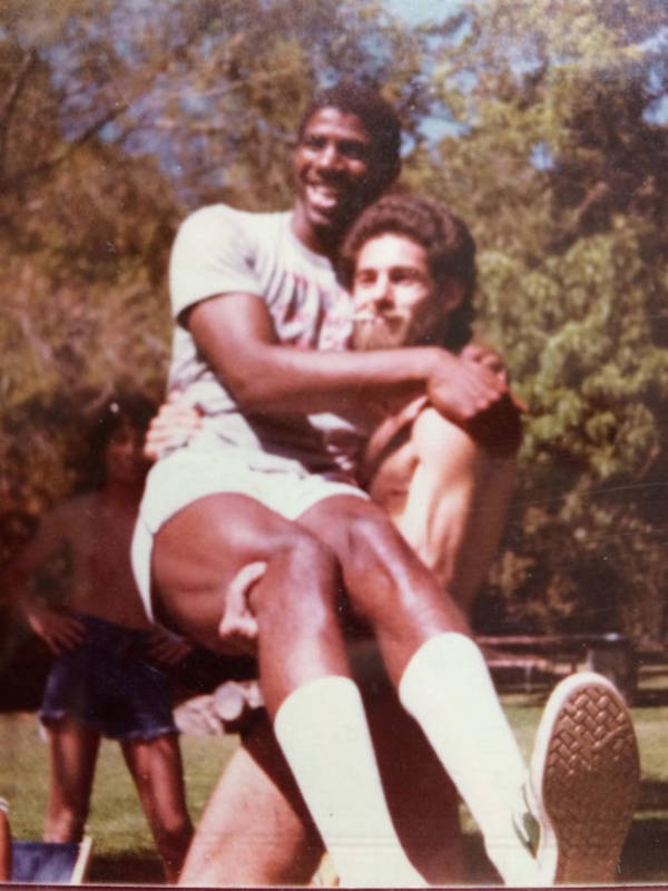 23. 'So I was Going Through Some Old Photos And I Found This. My Dad Holding Magic Johnson And Looking Incredibly Bad-Ass While Doing It'