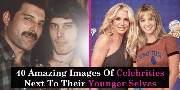 40 Amazing Images Of Celebrities Next To Their Younger Selves