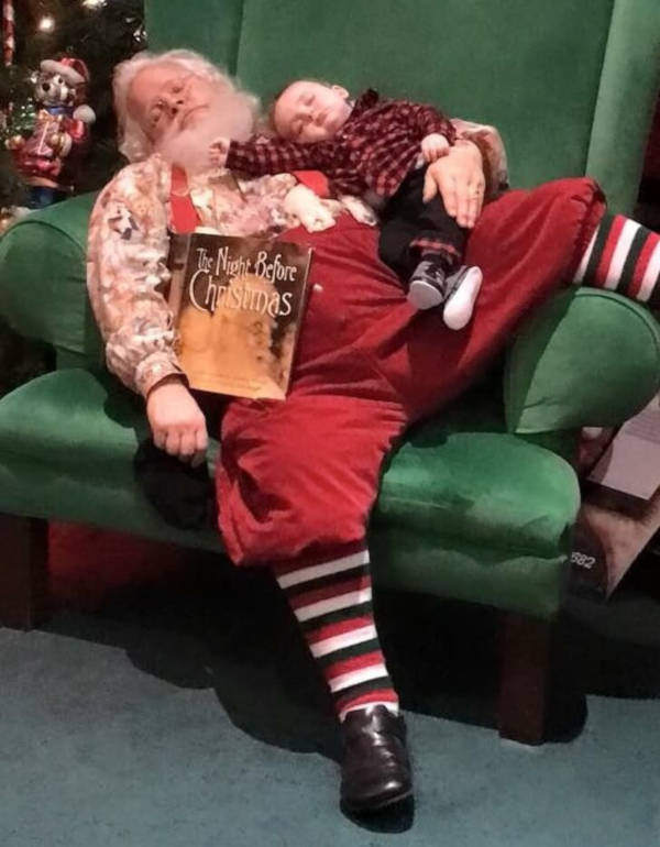17. Nap is dear to all of us Not only Santa but everyone in this world knows that anytime can be nap time.