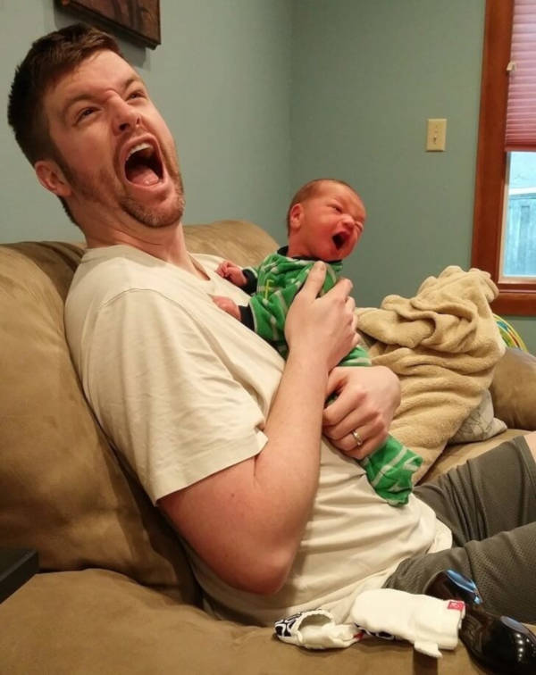 19. Crazy is the word. It can be hard at times to realise that your kids are just like you.
