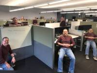 """2. """"My Dad Was The Only One At The Office Today, So He Made This Picture And Sent It To My Family."""""""