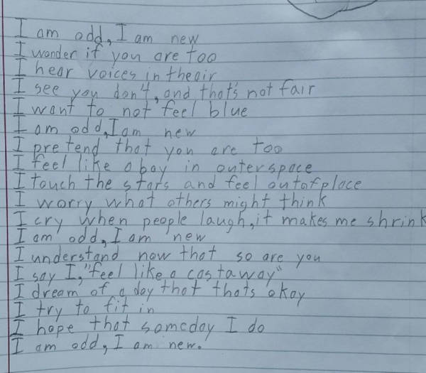 Autistic Boy Wrote A Heart-Melting Poem That Left His Teacher In Tears - 2