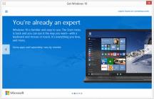 Microsoft offers free Windows 10 update screen 3