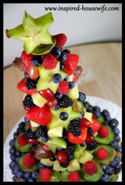 How to Make an Edible Holiday Tree Fruit Appetizer