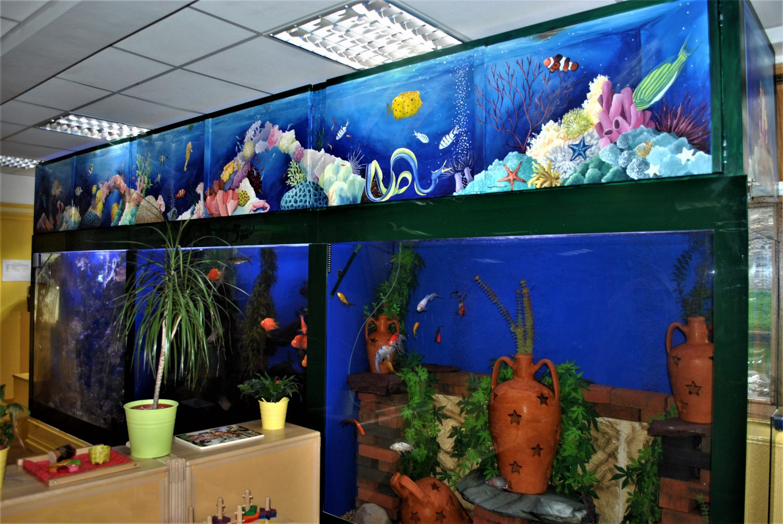 Underwater Themed Commercial Murals