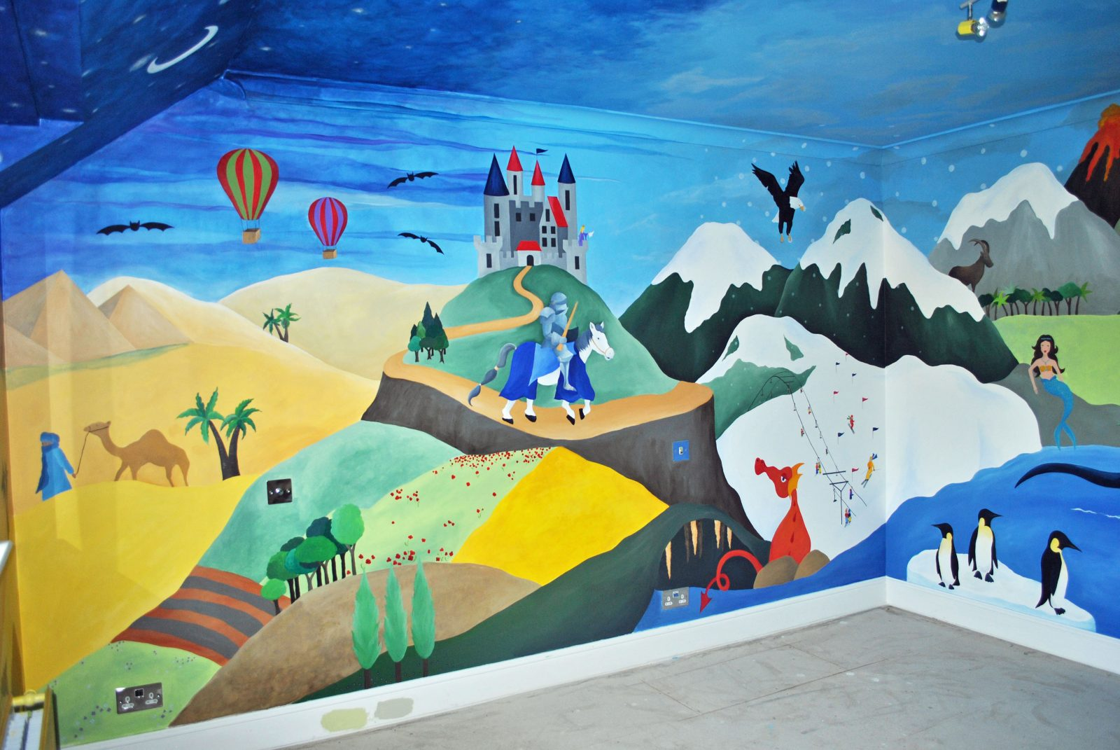 Hand Painted Children's Wall Murals
