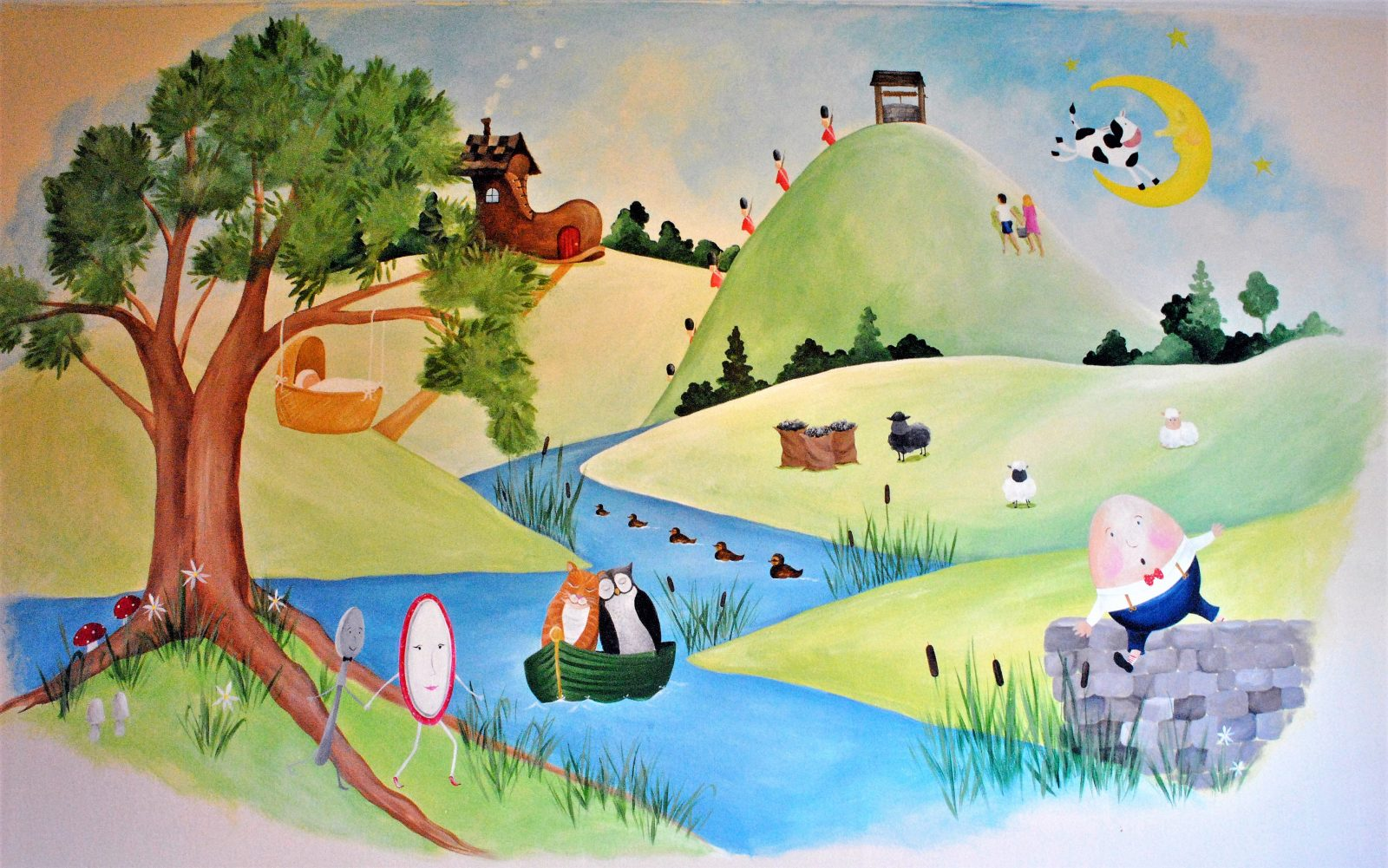 Nursery Rhymes Mural
