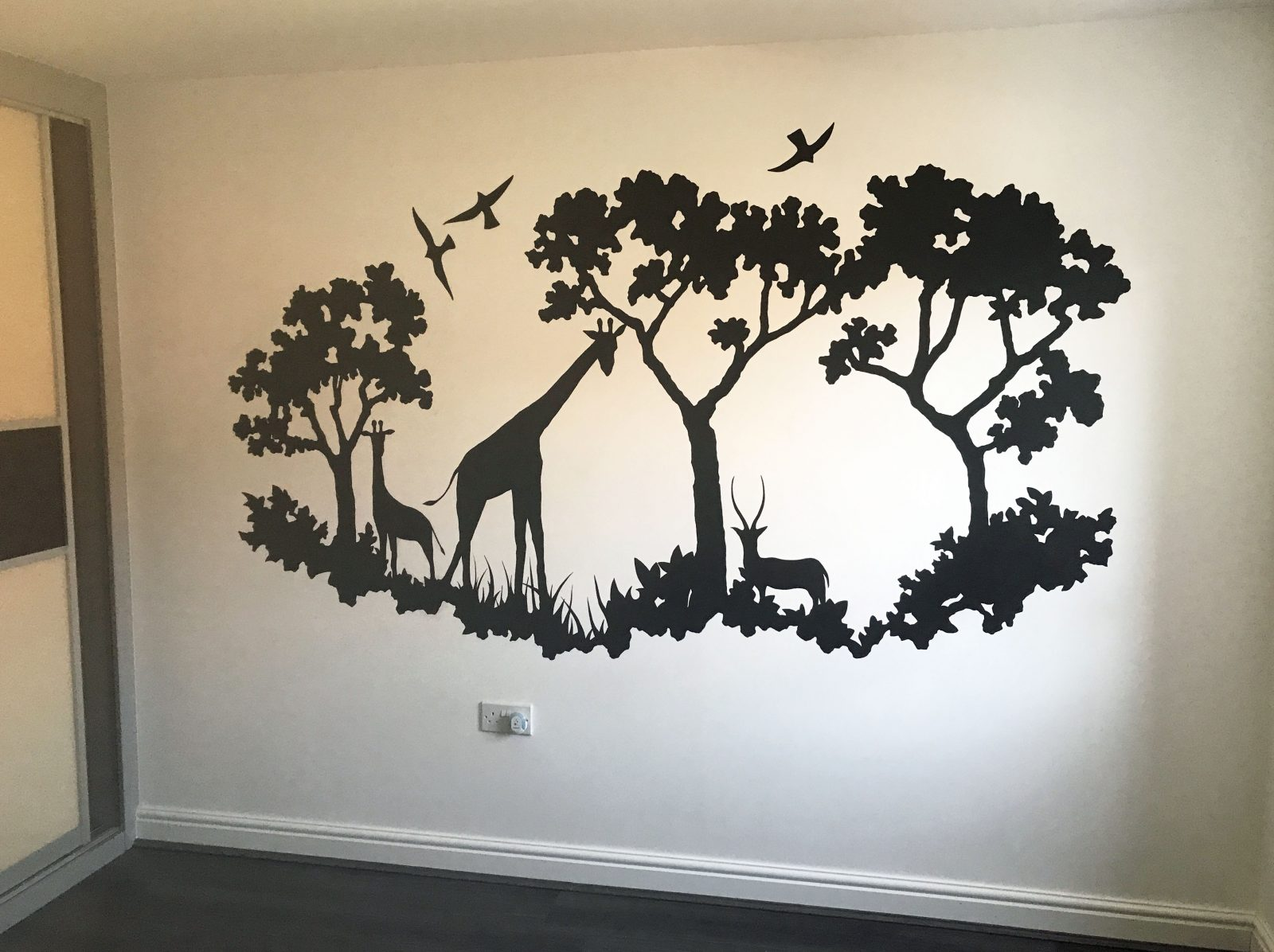 Safari Themed Contemporary Wall Murals