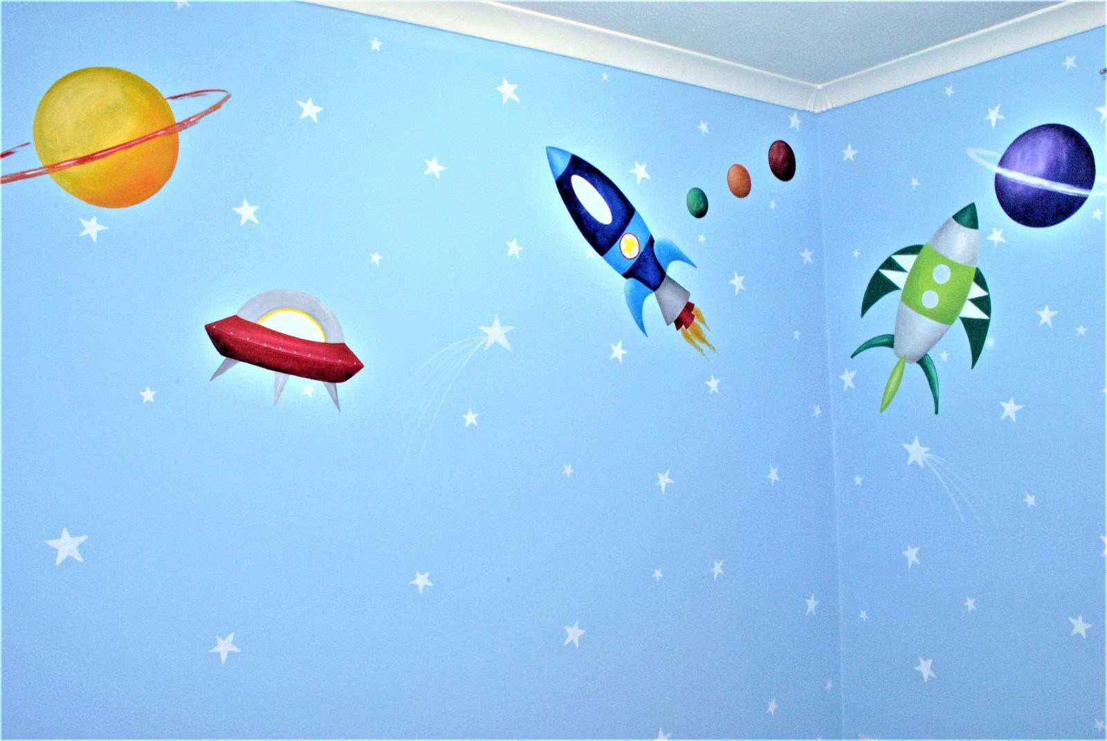 Space Themed Children's Wall Murals