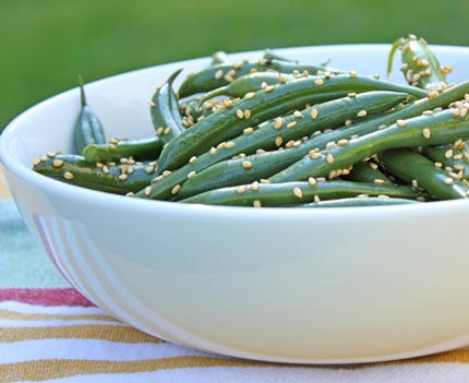 Inspired2cook.com » Sesame Green Bean Salad