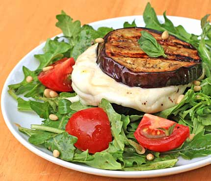 Inspired2cook.com » Grilled Eggplant and Mozzarella Sandwiches