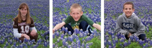 Kids in Bluebonnets Large