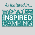 Inspired Camping Logo - As Featured in - Badge or button