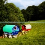The private gypsy caravan meadow