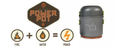 PowerPot Power generator for camping at your campsite