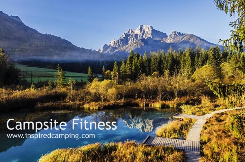 campsite family fitness wellness yoga meditation