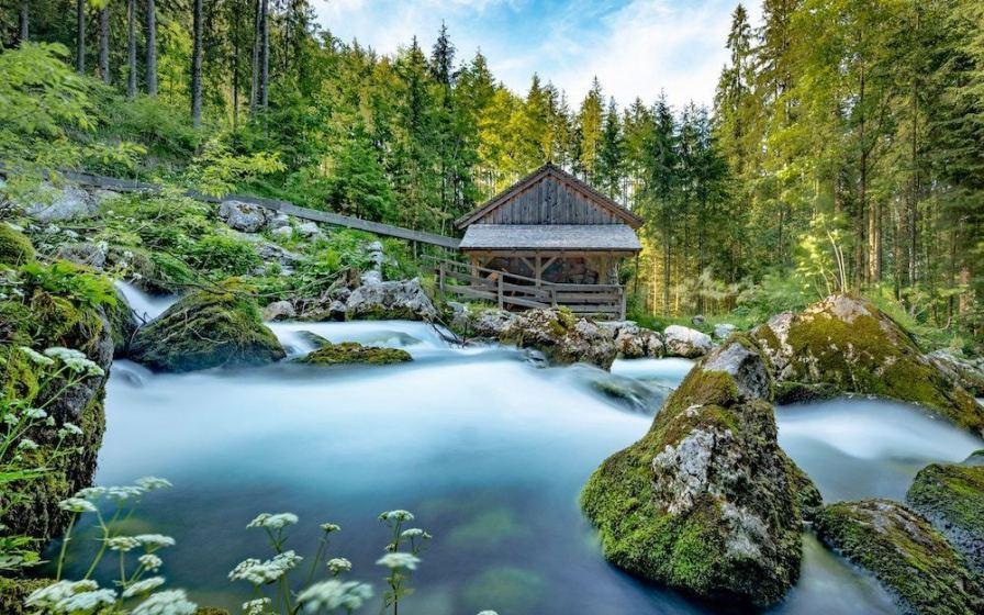 log cabin hideaway glamping business