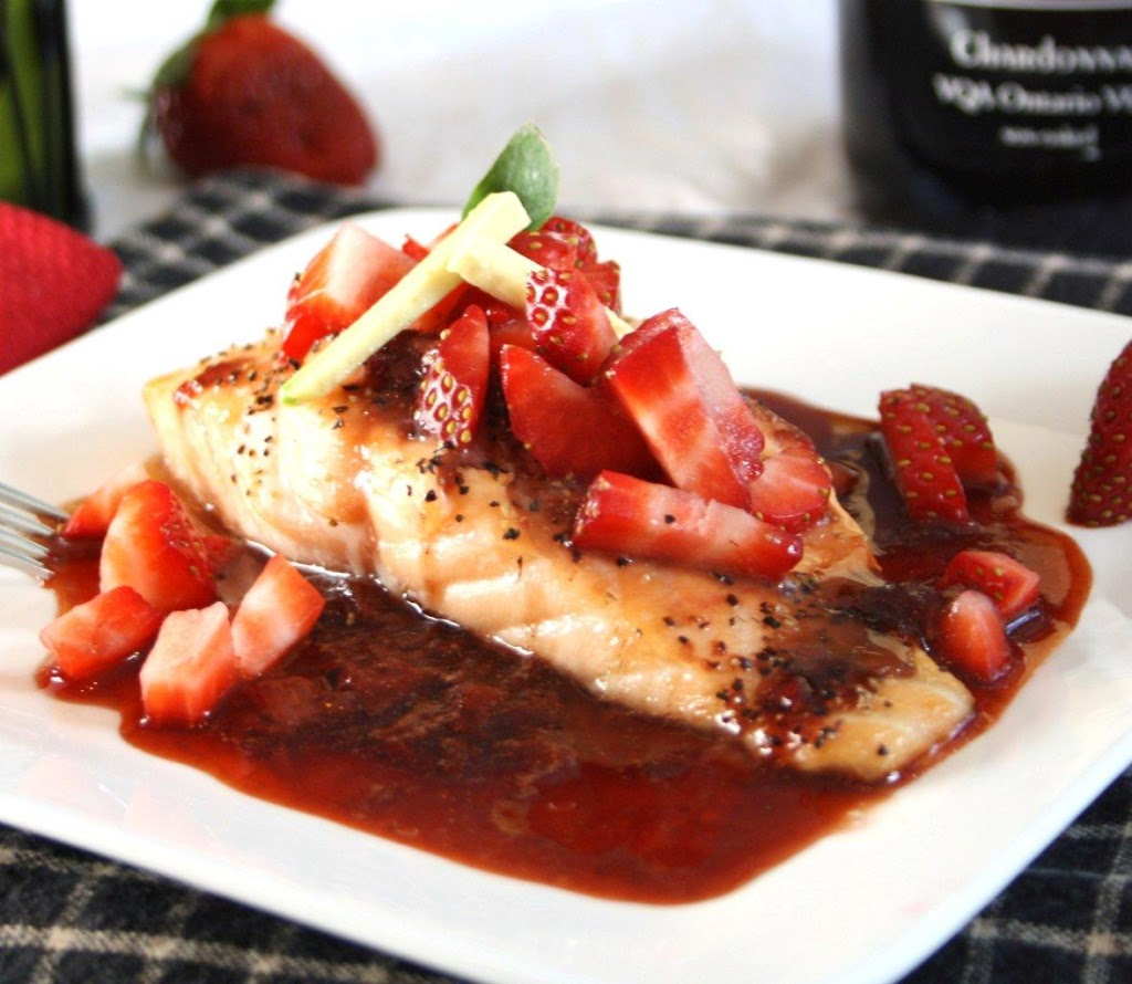 Roasted Salmon In A Strawberrybalsamic Reduction How To Cook Salmon On A  Stove