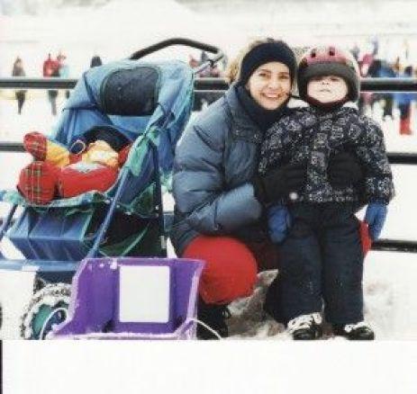 mom and boys_Ottawa Canal