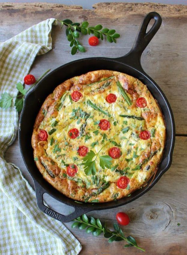 spring frittata with garden herbs_blog