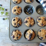 blueberry burst muffins with spelt & flaxseed