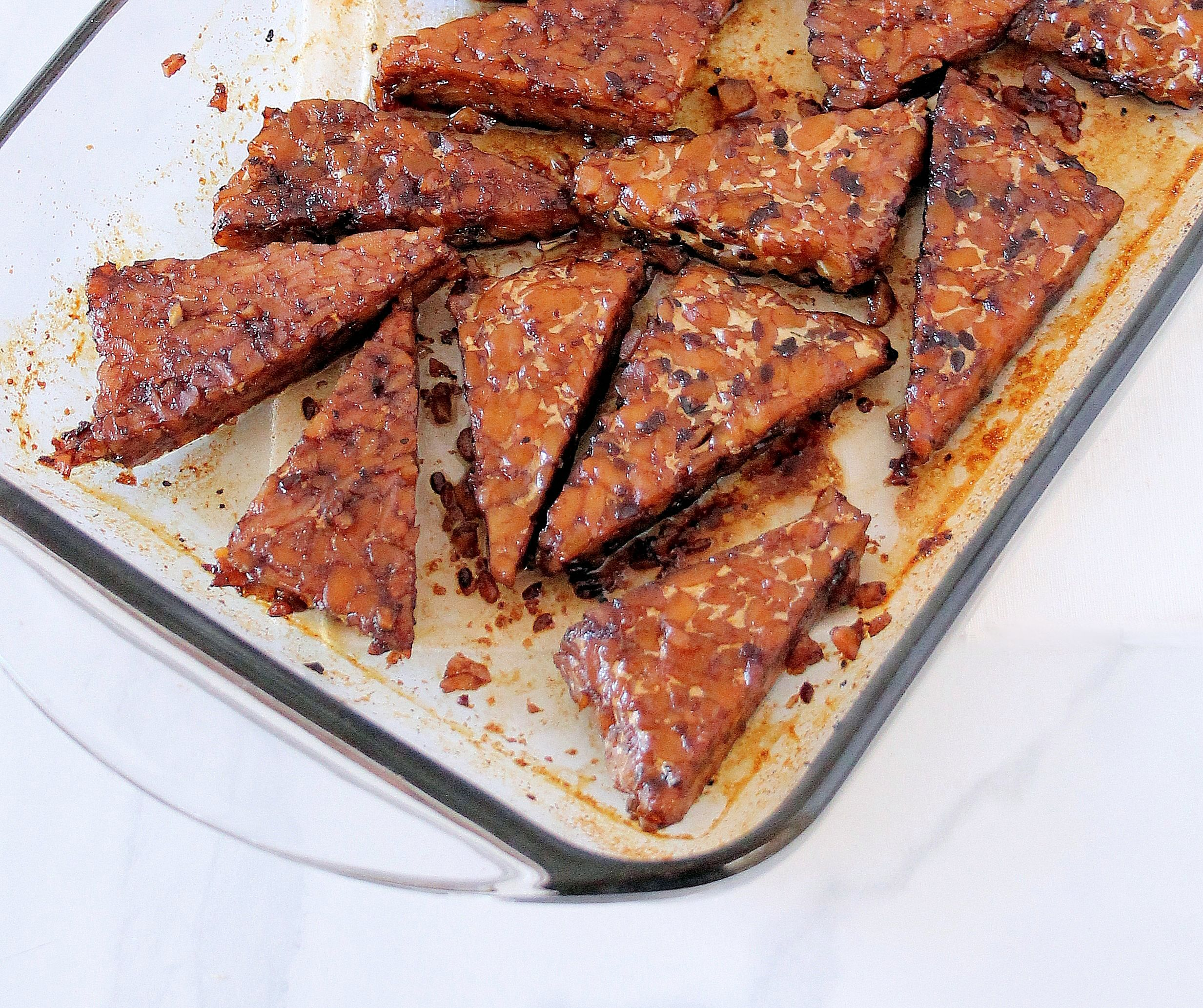roasted maple balsamic tempeh
