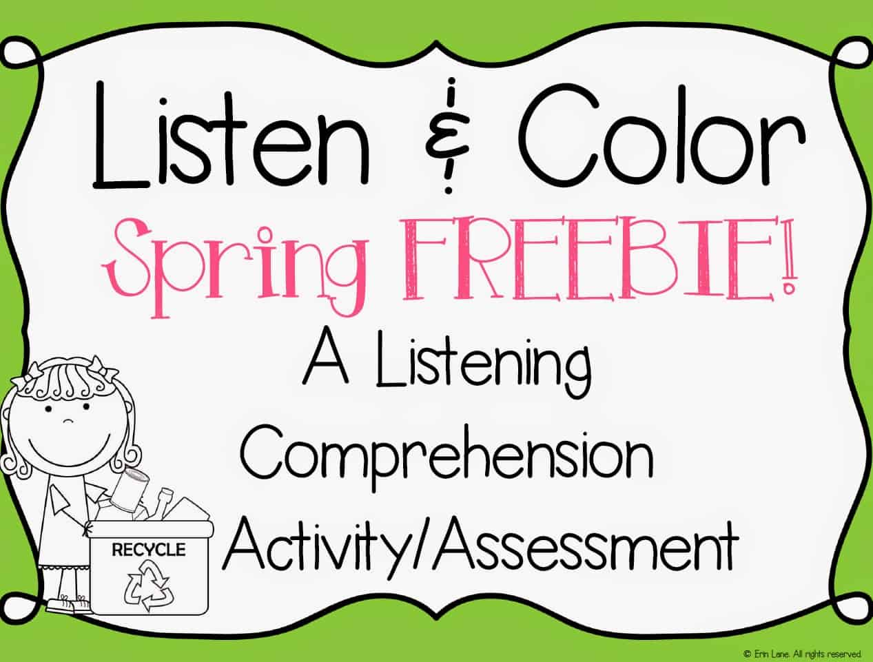 Listen And Color Freebie Included Too