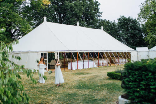Traditional pole marquee tent
