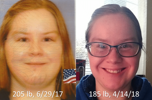 20 lbs difference week nine