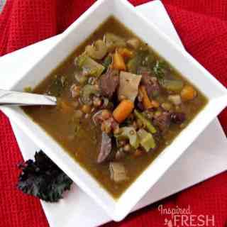 black bean lentil soup