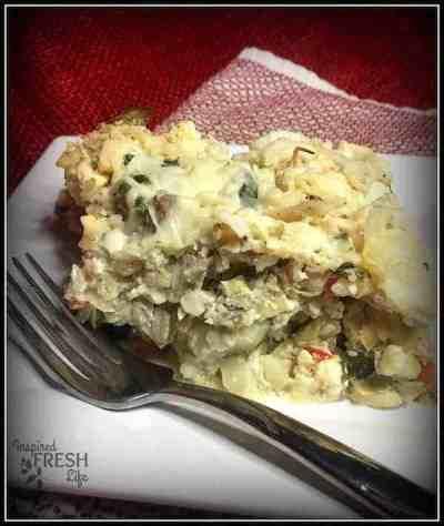 chicken cauliflower casserole on a plate