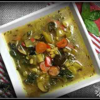 Very Veggie Farro Soup