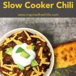 Slow Cooker Chili Pinterest image