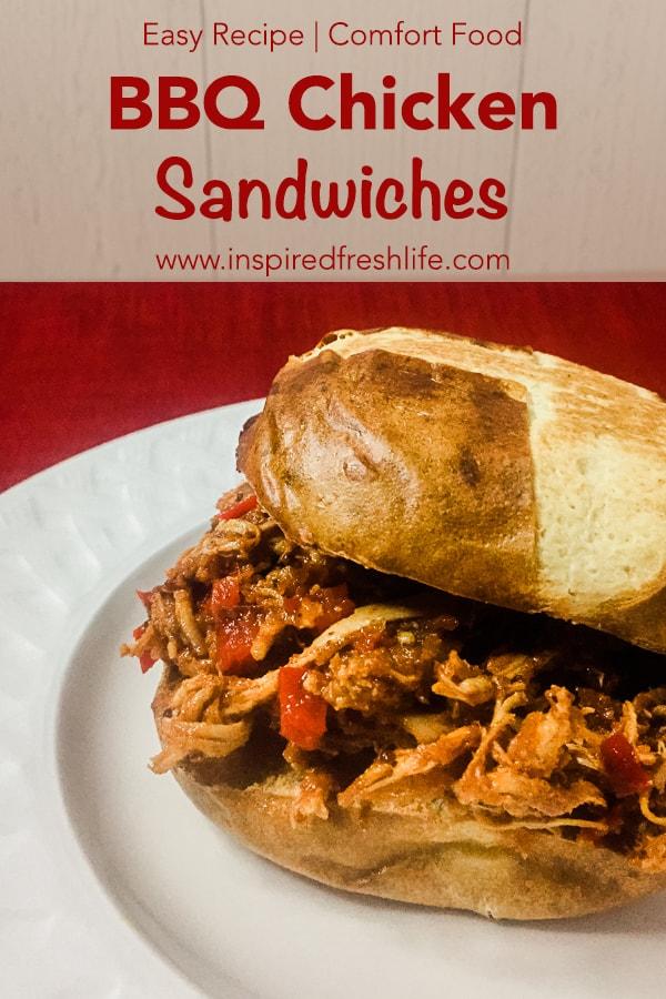 BBQ Chicken Sandwich Pinterest image