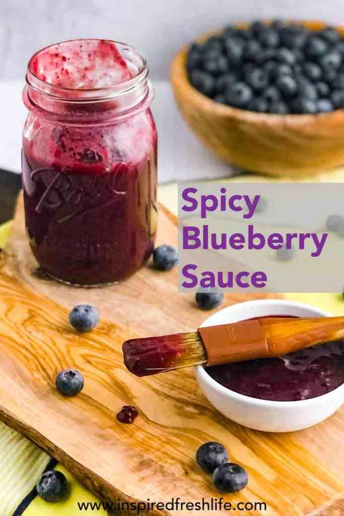 Pinterest image for Blueberry Sauce.