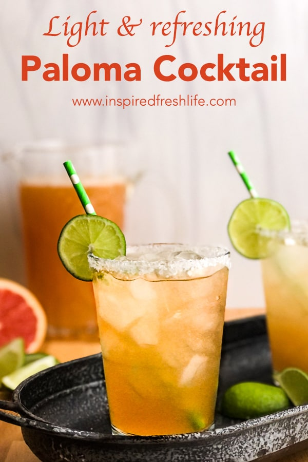 Pinterest image for Paloma Cocktail.