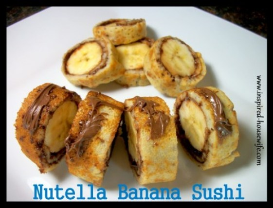 Inspired-Housewife: Nutella Banana Sushi {Gluten Free}