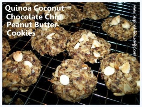 Inspired-Housewife:  Quinoa Coconut Chocolate Chip Peanut Butter Cookies {Gluten Free and Vegan}