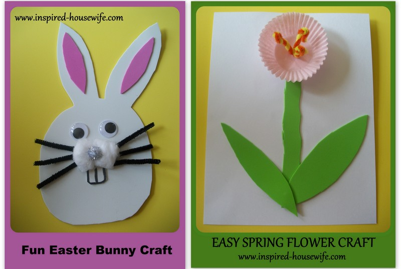 Easy and fun easter bunny and spring flower crafts inspired housewife easter crafts mightylinksfo