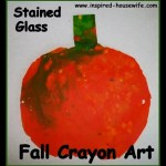 Fall Crayon Stained Glass Art Craft