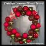 Easy DIY Christmas Ornament Wreath Tutorial