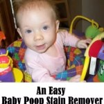 An Easy Baby Poop Stain Remover
