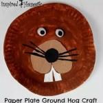 Paper Plate Ground Hog Craft