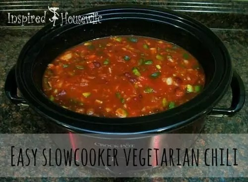 Super-Easy Crock-Pot Vegetarian Chili