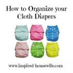 Cloth Diaper Organization At Its Best