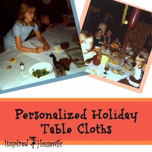 Personalized Holiday Table Cloths