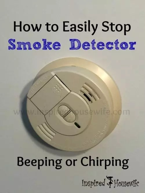 How to Easily Stop Smoke Detector Beeping or Chirping