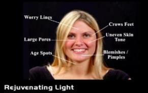 List of problem areas rejuvenating light treats on face