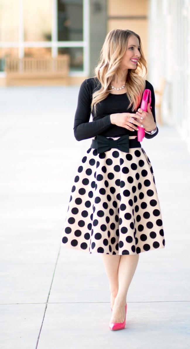 25 Summer Polka Dot Outfits Ideas
